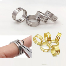 DIY Handmade Jewelry Beaded Tool Accessories Stainless Steel Auxiliary Opening and Closing Rings Pure Copper Handmade Rings