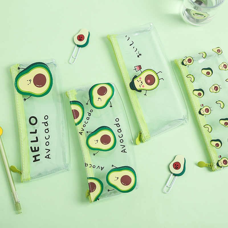 1 Pcs Etui Avocado School Potlood Doos Pencilcase Potlood Tas Schoolbenodigdheden Briefpapier