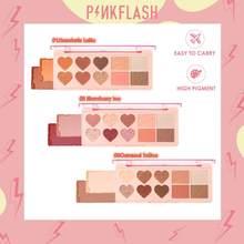 PINKFLASH fard ed evidenzia ombretto tre In uno tavolozza completa facciale impermeabile TSLM2 di lunga durata facile da colorare