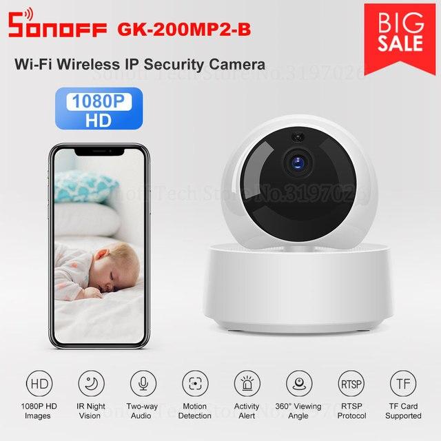 Sonoff 1080 1080p hd ipセキュリティカメラwifiワイヤレスアプリcontroled GK 200MP2 Bモーション探偵360 ° 視野活動警告カメラ