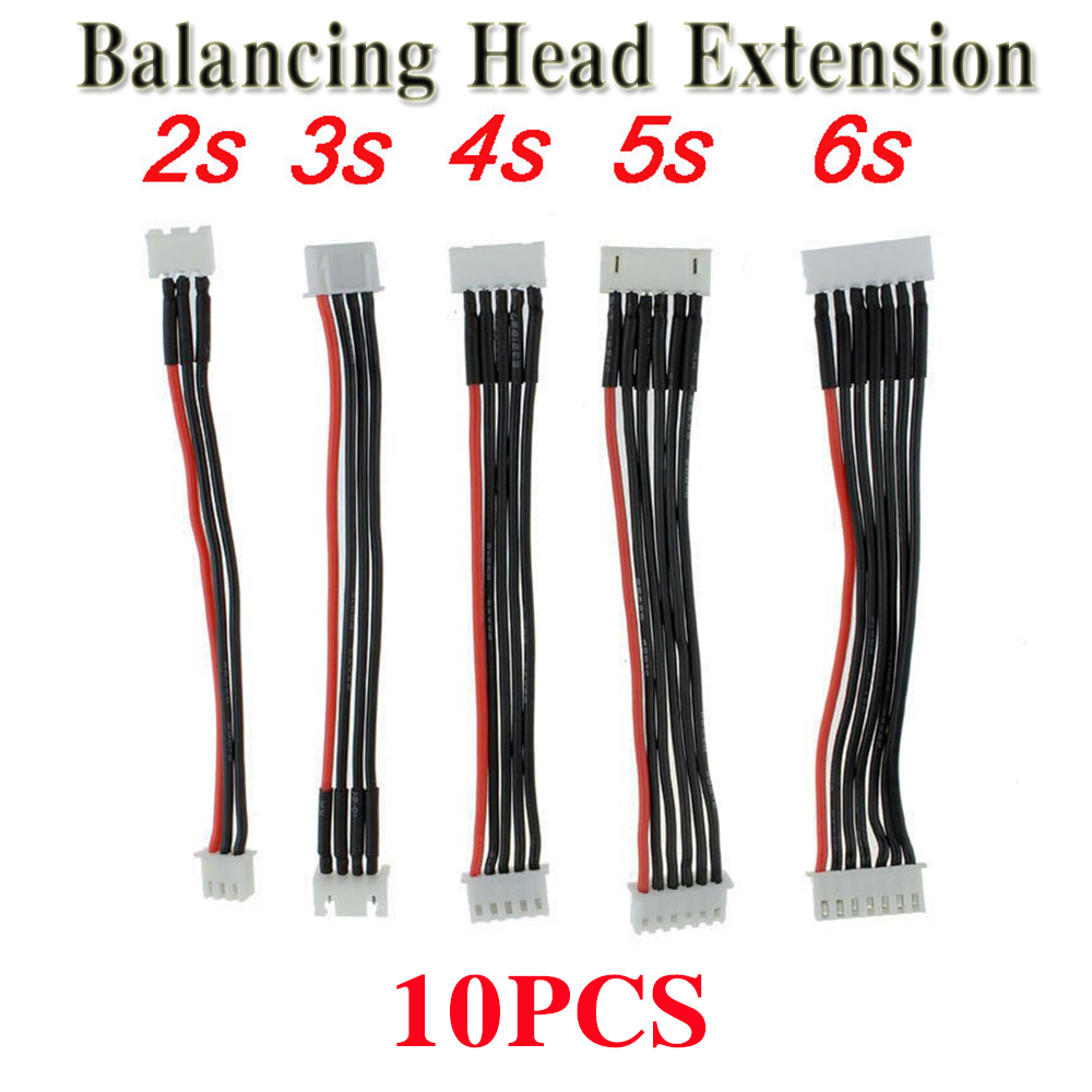 10pcs RC FPV Battery Balancing Head Extension Line <font><b>2S</b></font> 7.4V/3S 11.1V/4S 14.8V/5S-18.5V /6S-22.2V RC Extend line for Lipo Battery image