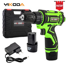 YIKODA 12V Electric Screwdriver Rechargeable Lithium Battery Parafusadeira Multi-function Cordless Drill Power Tools