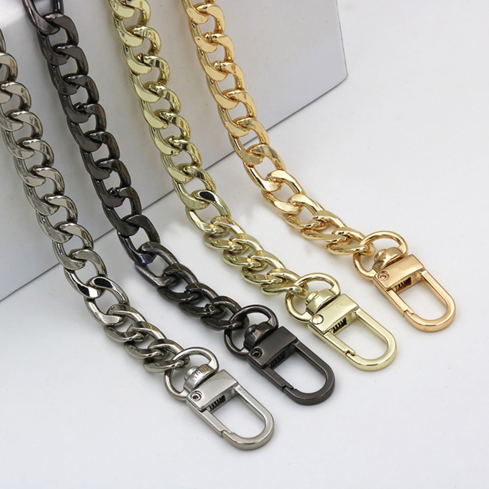 Ultralight Aluminum Chains DIY Gold Silver Gun Black Replacement Light Chain Purse Strap, Bag Straps For Small Handbag 120cm