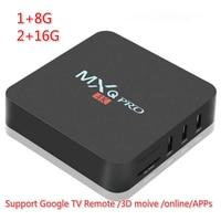 Caja de Smart TV de Android-decodificador de señal de 2GB/16GB, 1GB/8GB, Rockchip 3229, Quad-Core, compatible con 4K, wi-fi