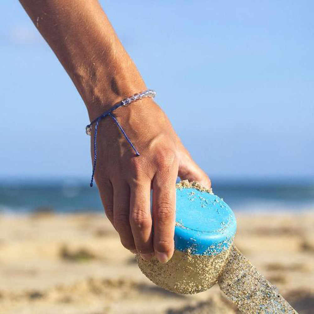 Pulsera de piedra del océano pareja estilo bohemio tejido pulsera 4 colores Unisex playa envolver cuentas cadena vacaciones regalo cuerda joyería