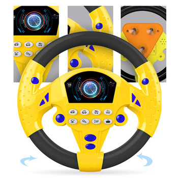 Children Musical Developing Educational Toys Simulation Steering Wheel With Light Early Education Sounding Toy For Kids