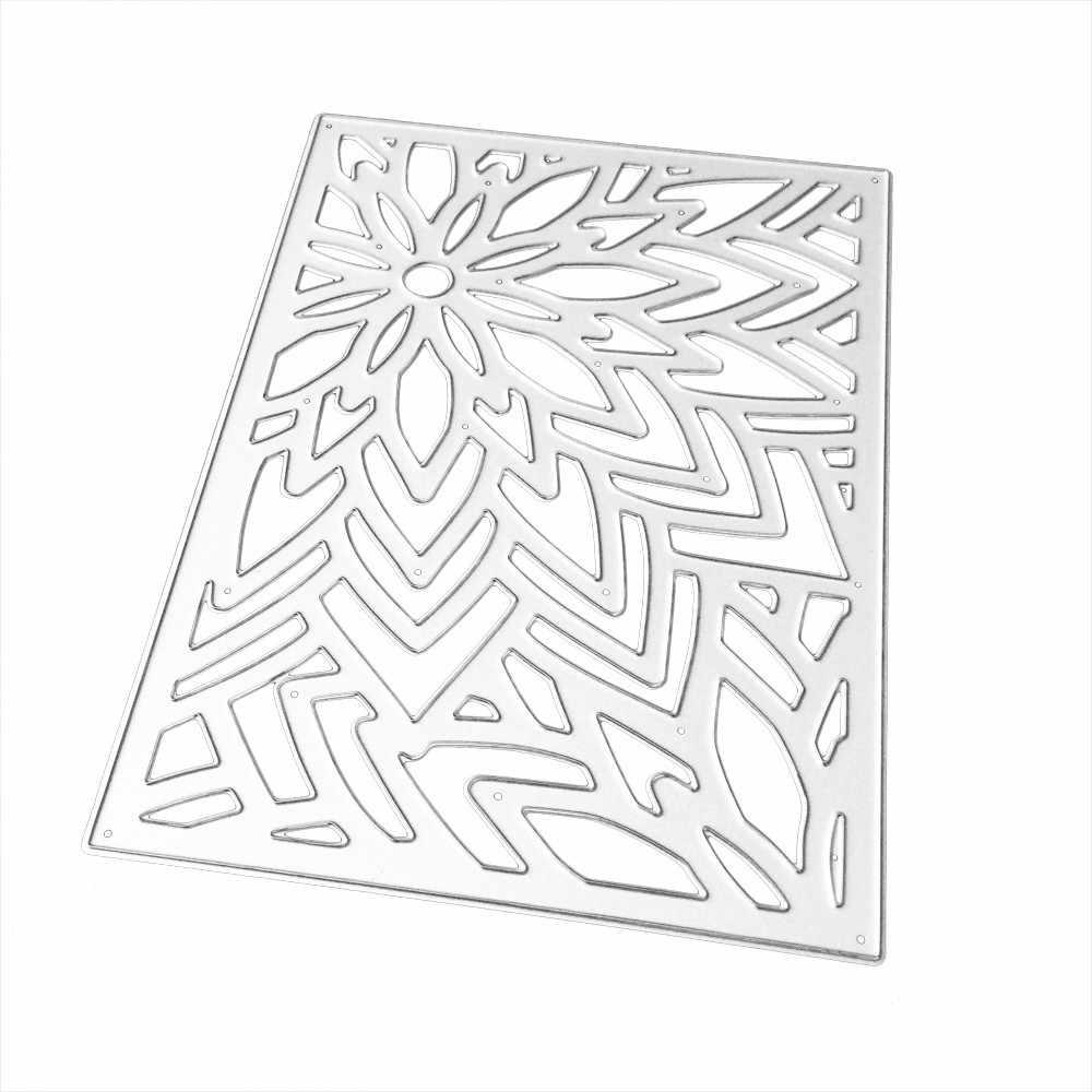 Nouvelle fleur coeur métal matrices de découpe pochoirs bricolage Scrapbooking Album papier carte décorative gaufrage cartes matrices dentelle chaude YL5