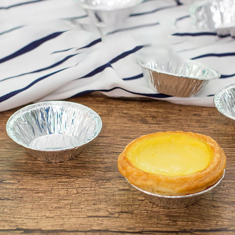 100 pcs Disposable 3 Aluminum Foil Tart//Pie Pans Mold Mini Pie Tin