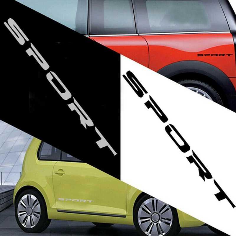 4 יח'\סט ספורט גופן רכב גוף מדבקות מדבקה לרכב דלת חישוקים גלגל רכזת מירוץ מדבקת מדבקות אביזרים חיצוניים