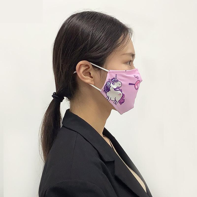 NOISYDESIGNS Cute Girls Anti Air Pollution Mouth Masks Adjustable Mascarilla With 7pcs Filters Face Kpop Cover Mascara Boca 5