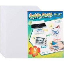 10 pçs a4 branco inkjet impressão psiquiatra filme claro psiquiatra arte papéis para crianças arte artesanato fornecimento diy desenho projeto 0.3mm espessura