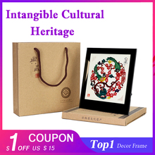 Photo Frame With Glass Detachable Desktop Decoration Vintage Feng Shui Party Home for Birthday Wedding Festival