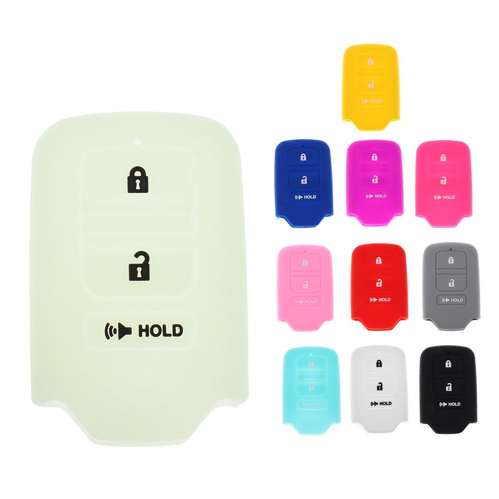 Protective Silicone Rubber Remote Keyless Entry Fob Cover Jacket For Honda Green