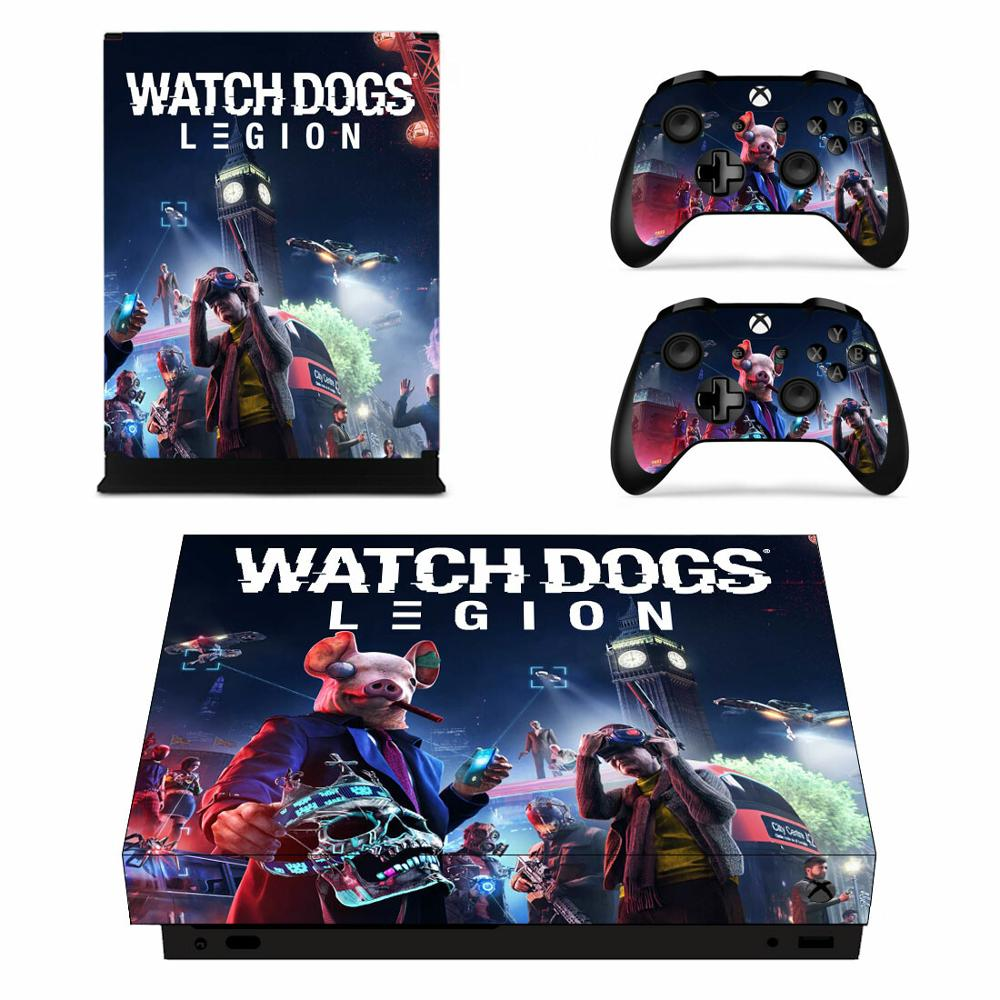 Watch Dogs Legion Skin Sticker Decal For Xbox One X Console And 2 Controllers For Xbox One X Skin Sticker Stickers Aliexpress
