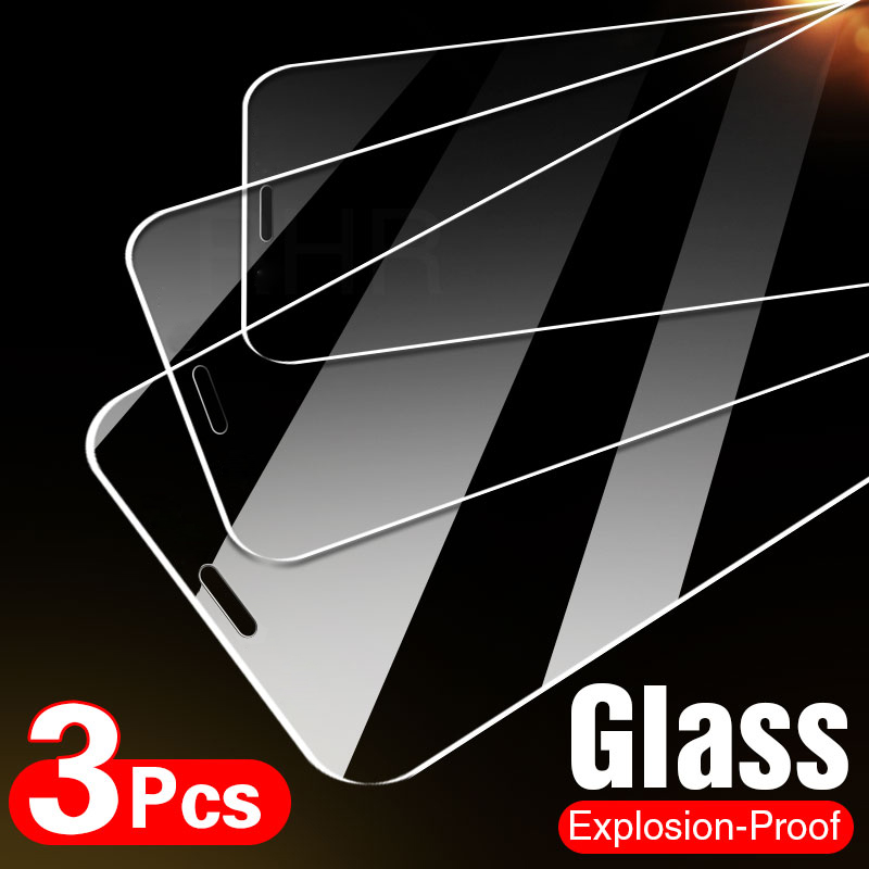 3PCS Full Cover Glass on the For iPhone 11 Pro X XR XS Max Tempered Screen Protector For iPhone 7 8 6 6s Plus 5 5s SE 11 Glass(China)