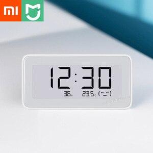 Image 1 - Датчик температуры и влажности Xiaomi Mijia, Bluetooth, ЖК дисплей, цифровой термометр, измеритель влажности, умная связь M