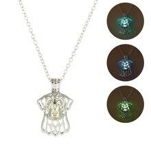 2019 Punk Hollow Luminous Stone Necklace Charm Leopard Head Shape Glow In The Dark Pendant Men Women Rock Jewelry Gifts