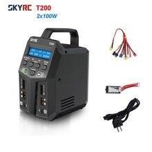 SKYRC T200 Sạc 2X100W 12A AC/DC Pin Đôi Cân Bằng Sạc Cho 1 6S Lipo/LiHV/Cuộc Sống/LiIon Battery Thay Thế Linh Kiện
