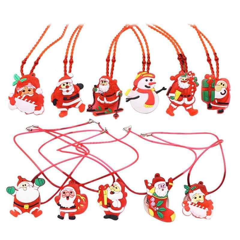 12pcs Santa Claus Xmas Slap สายรัดข้อมือ PARTY Decor วงกลมแหวนเด็กเด็กของเล่นคริสต์มาส