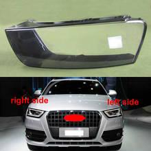 For Audi Q3 2016 2017 2018 Headlight Plastic Cover Transparent Shade Headlight Lens Transparent Shell Lampshade Headlamp Cover