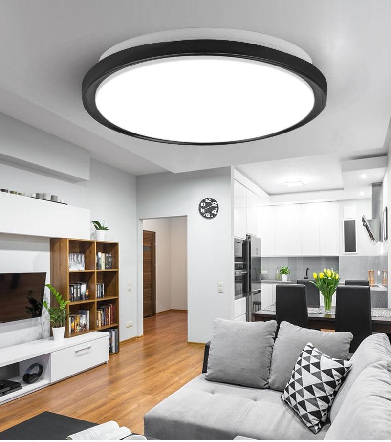 H790d68b9e71e424b9eb5a63dcff636adS Modern LED Ceiling Lights Lighting Round 16W 15W 20W 30W 50W 220V Led Ceiling Lamp Light For Home Bedroom Bathroom Living Room