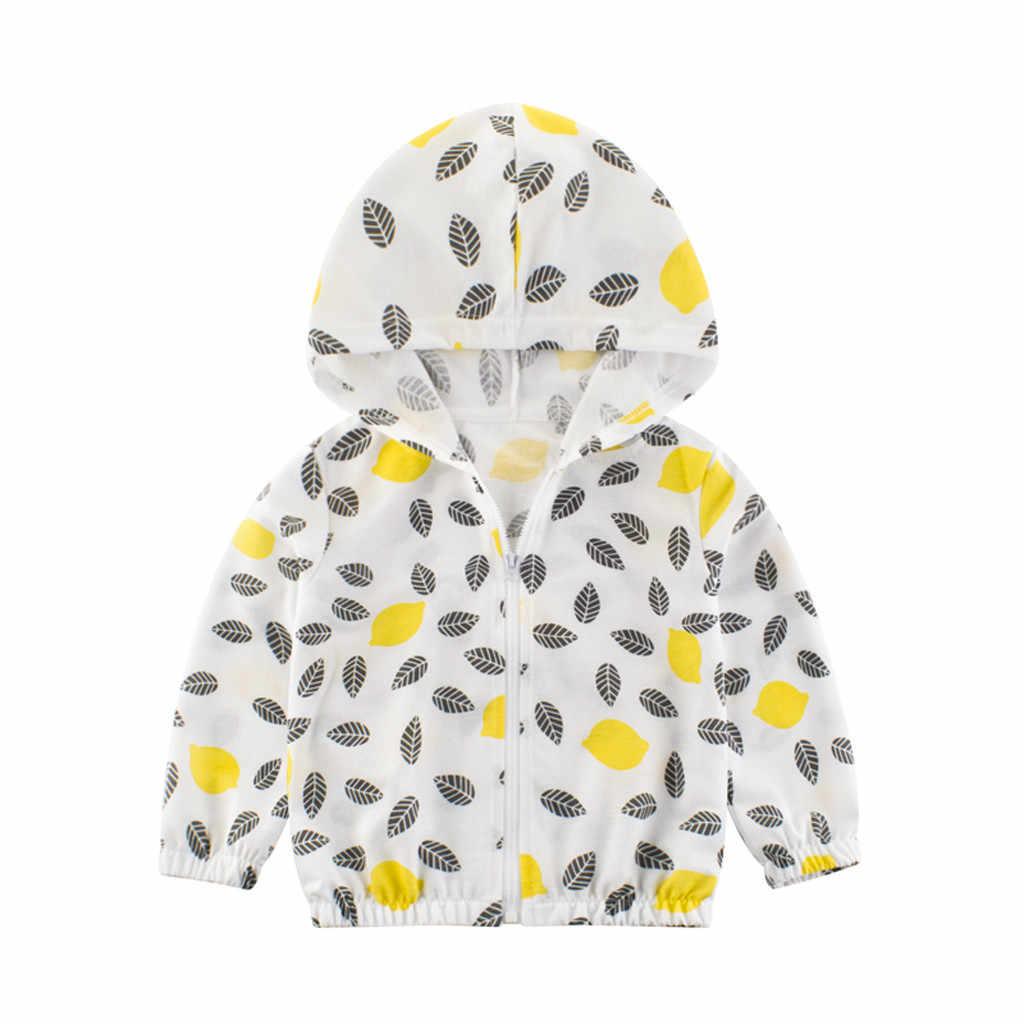 ילדי ילדי מעילי בנות בני סתיו פעוט ילדה מעילים ומעיילים תינוק הלבשה עליונה ברדס מעיל רוח פירות עלים מעיל