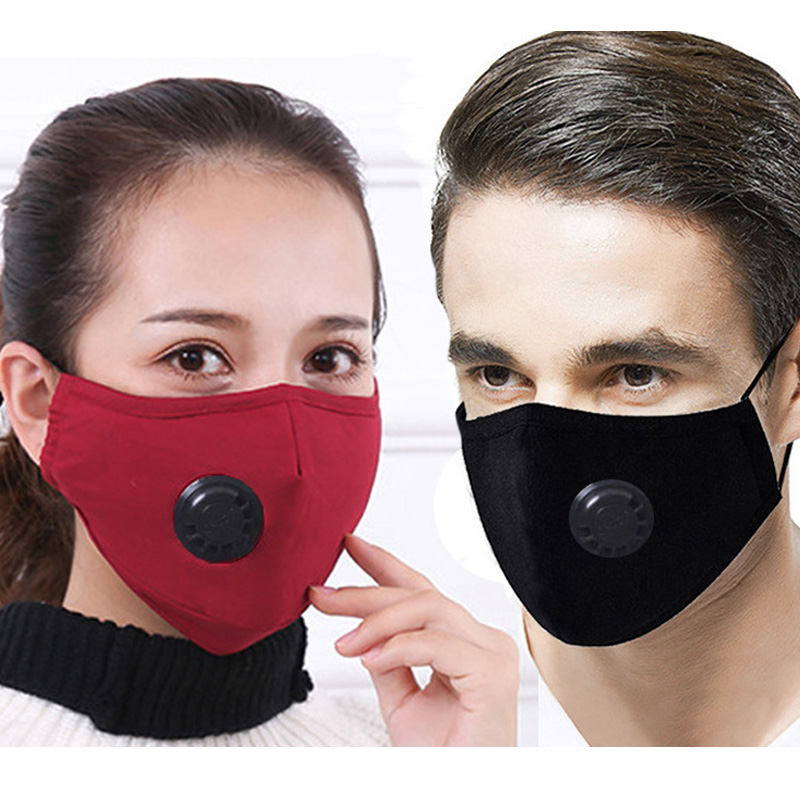 Cotton Mouth Mask PM2.5 Anti Dust Mouth Mask Activated Carbon Filter Respirator Mouth Face Masks Breathing Mask Mouth Cover