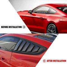 2X الخلفي الربع نافذة اللوفرات المجارف المفسد سيارة التصميم تونيج لوحة الجانب غطاء فتحة التهوية ملصق لفورد موستانج 2015   2020