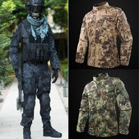 Mens Tactical Combat Airsoft Suit Camo Set Jacket Pants Military Uniform