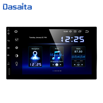 "Dasaita 7"" HD Touch Screen Car Radio 2 din Built-in DSP Android 9.0 Universal Car Multimedia Player TDA7850 HDMI Output"
