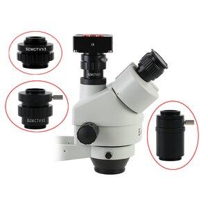 0.3X 0.5X C mount Lens Adapter SZMCTV 1/2 1/3 1X Adapter For Simul Focal Trinocular Stereo Microscope HDMI VGA USB Video Camera(China)