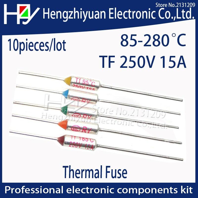 Термопредохранитель Hzy 73 ~ 280C 240C, Термопредохранитель с градусом Цельсия, 15 А, 250 В, миниатюрный Электрический терморегулятор, Термопредохран...