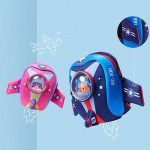 Image 2 - Anti perso Bambini Borse da Scuola 3D Del Fumetto A Forma di Aeroplano di Disegno Zaino per le Ragazze Dei Ragazzi Aeromobili borse mochila infantil Escolares