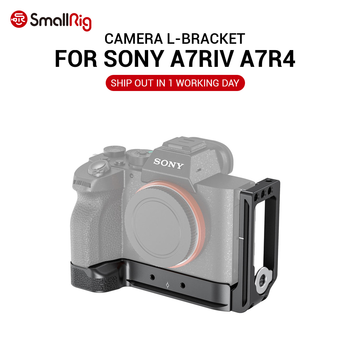 SmallRig A7R4  Camera L Plate L-Bracket for Sony A7R IV W/ Arca compatible base plate & side plate 2417 smallrig quick release l plate l bracket for canon eos 6d camera vertical shooting bracket w arca style base side plate 2408