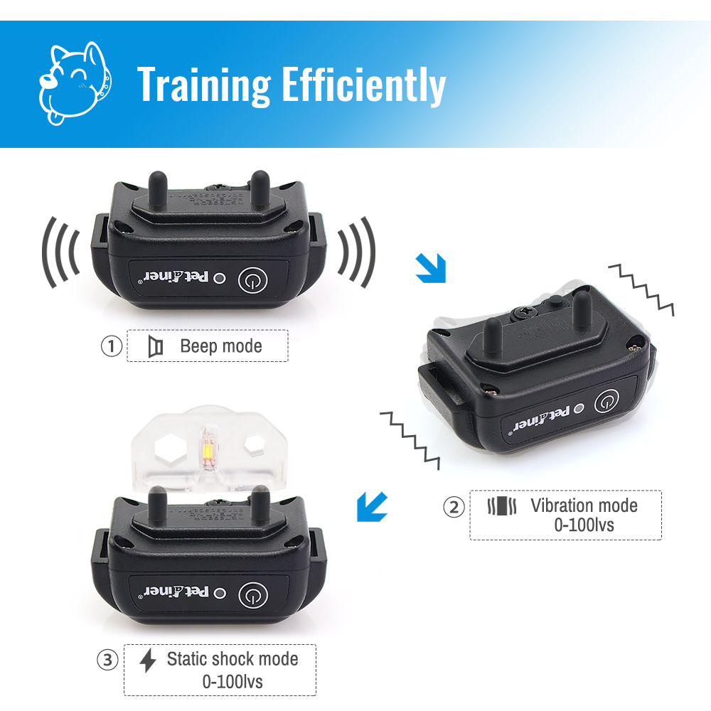 Image 4 - Ipets 998DBB 1 Remote Dog Training Collar Rechargeable And 