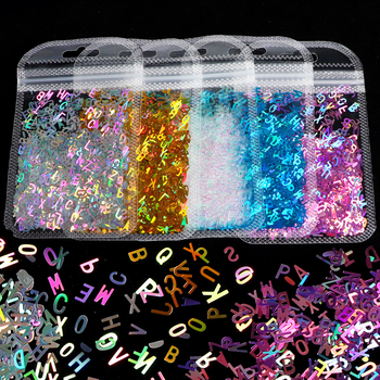 Glitter Flakes Letter Sequins Alphabet Sequins Flakes for Epoxy Resin Mold Clay Slime Filling Nail Art Handmade Craft Making DIY