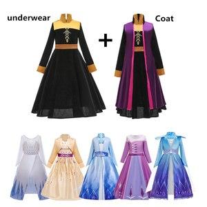 Robe de fête pour filles | Costume Cosplay princesse Anna Elsa 2, vêtements reine des neiges, jeu de rôle Elsa, pour enfants