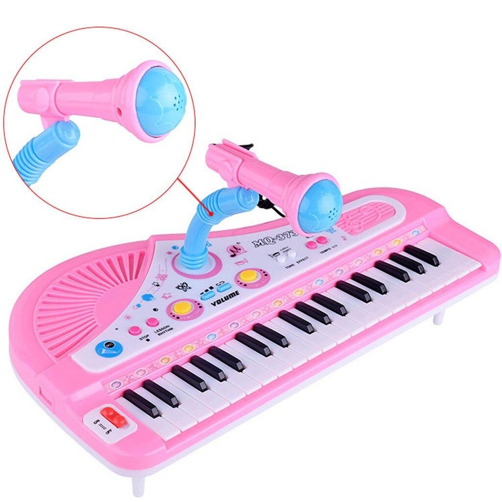 HENG 37 Touches Piano Electronique Multifonctionnel Jouets /à Clavier Electronique avec Microphone pour Enfants