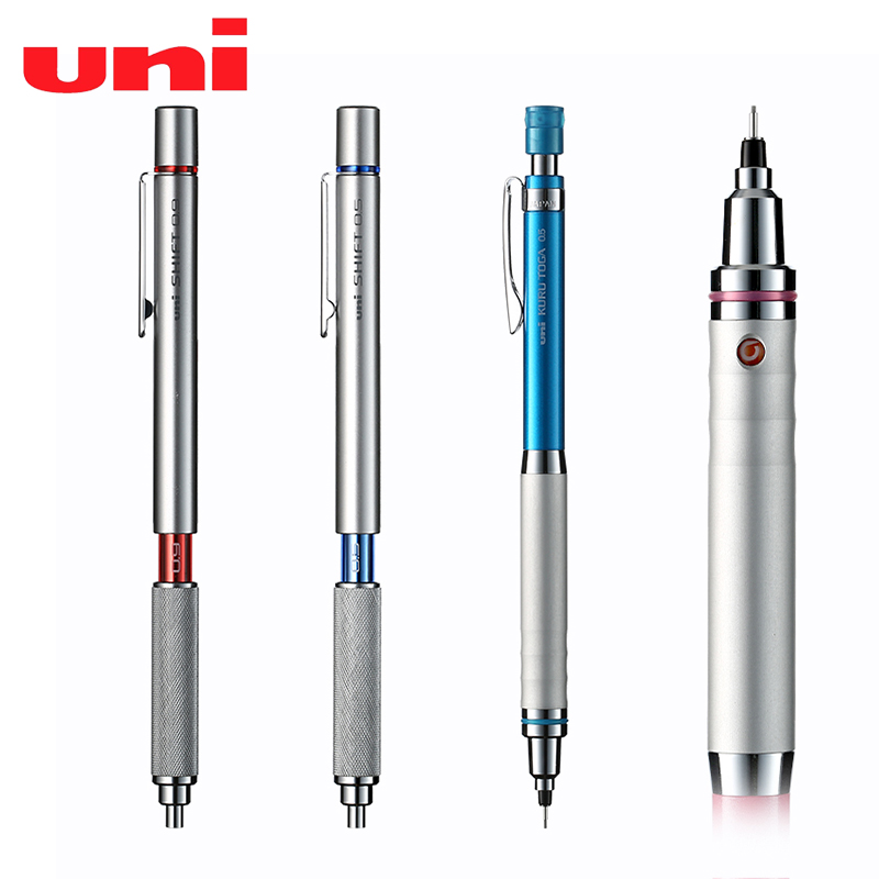 1PCS UNI M5-1010 / M5-1012 Drawing Pencil For Easy-to-break Student Examination Activities Low Center Of Gravity Metal Handshake