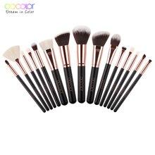 Docolor 11/15pcs Professional Makeup Brushes Set Powder Foun