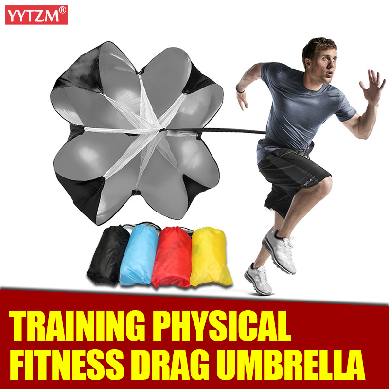 Football Drag Umbrella Speed Training Running Drag Strength Fitness Equipment Track Field Power Speed Chute Resistance Parachute