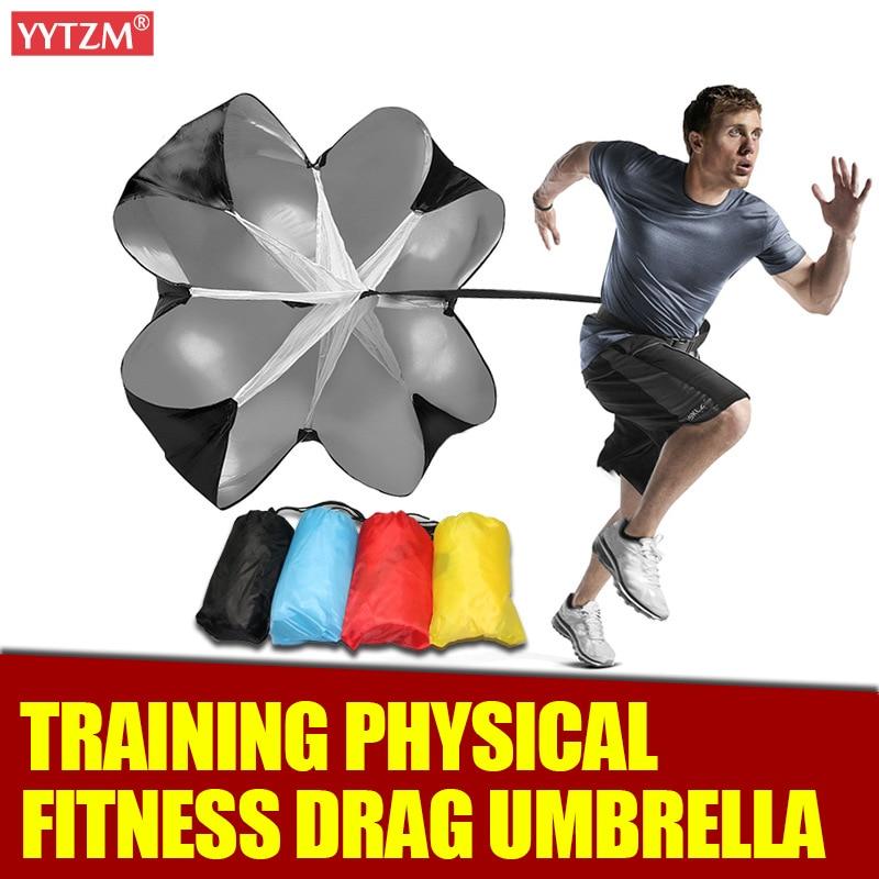 Football Drag Umbrella Speed Training Running Drag Strength Fitness Equipment Track Field Power Speed Chute Resistance Parachute