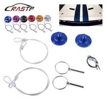 RASTP-Universal 2pcs Aluminum Hood Pin Lock Quik Latch Billet Pins Appearance Kit  RS-ENL020