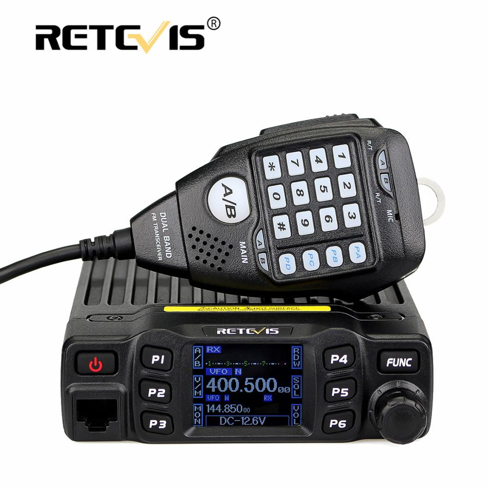 Retevis Radio Transceiver Amateur Ham Dual-Band Mobile Two-Way Car Mic Vhf Uhf