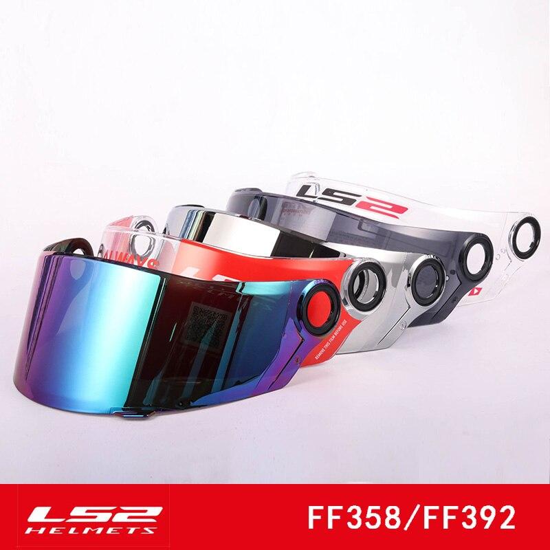 Original LS2 Ff358 Motorcycle Helmet Visor Suitable For LS2 FF396 FF392 Helmet Transparent Viseira Lens