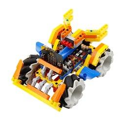 Программируемый Интеллектуальный робот-строительный блок, набор, колесо, робот-машина для микро: бит, программируемые игрушки для детей, вз...