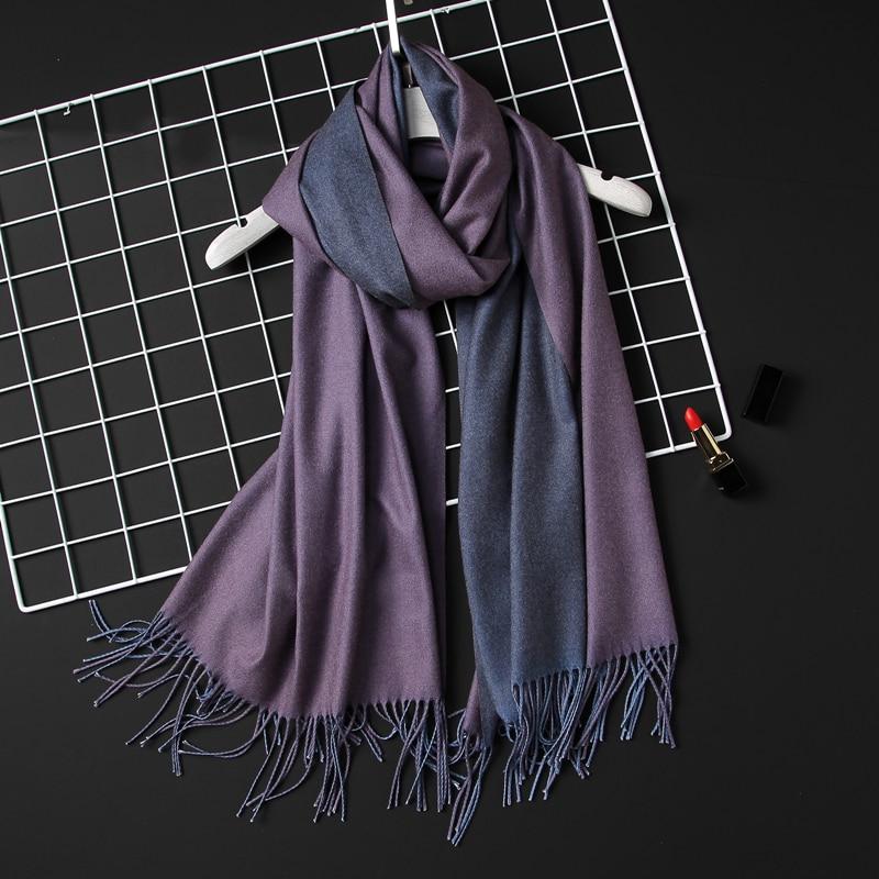 2020 Winter Women Scarf Fashion Solid Soft Cashmere Scarves For Lady Pashmina Shawls Wrap Blanket Bandana Female Foulard Tassel