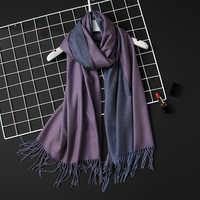 2020 inverno feminino cachecol moda sólida macio cachecóis de caxemira para senhora pashmina xales envoltório cobertor bandana feminino foulard borla