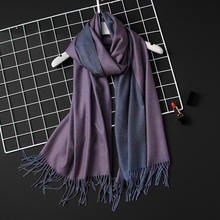 Дизайн 2020 новые зимние женские шарф модные однотонные двухсторонний мягкие кашемировые шарфы шали и палантины бандана женский платок кисточкой шарфы женские