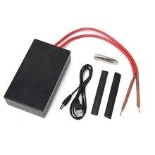 DIY Spot Welder, Professional Mini Spot Welding Machine with 10m Nickel Sheet and 3.7V 5.5 Ah Lithium Battery, 6 Gears Adjustabl